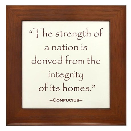 Confucius Preservatioin Quote Framed Tile
