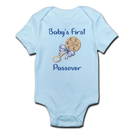 Baby's First Passover Infant Creeper/Blue