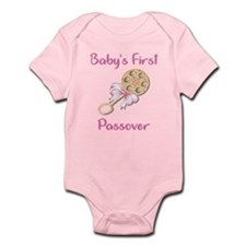Baby's First Passover Infant Creeper/Pink