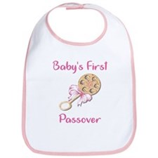Baby's First Passover Bib/Pink