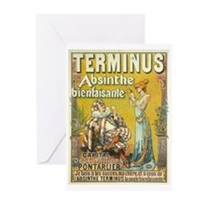 Terminus Absinthe Bienfaisante Greeting Cards (Pac