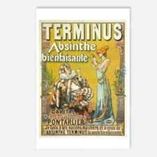 Terminus Absinthe Bienfaisante Postcards (Package