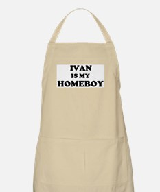 Ivan Is My Homeboy BBQ Apron