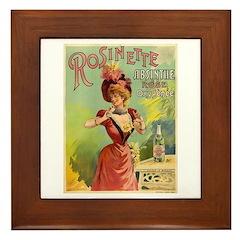 Absinthe Rosinette Framed Tile