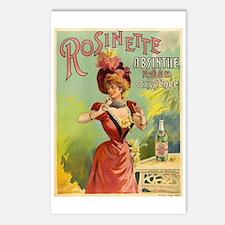 Absinthe Rosinette Postcards (Package of 8)