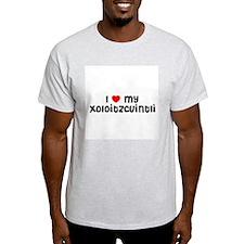 I * my Xoloitzcuintli  Ash Grey T-Shirt