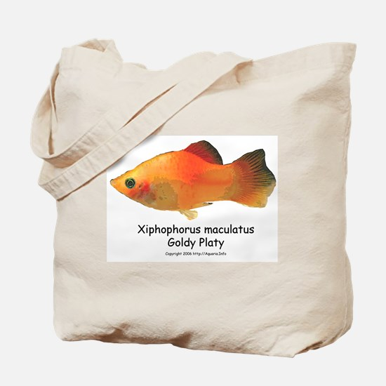 Gold Platy Tote Bag