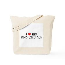 I * my Xoloitzcuintli  Tote Bag