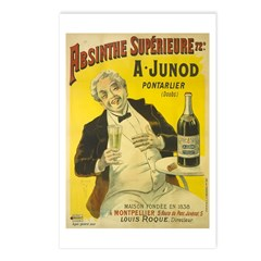 Absinthe Superieure Junod Postcards (Package of 8)