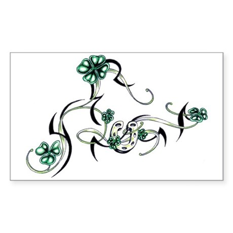 Tribal Irish Design Rectangle Sticker