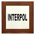 INTERPOL Police Framed Tile
