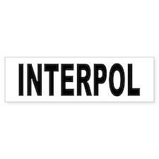 INTERPOL Police Bumper Stickers