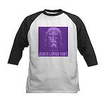 Jesus Loves You! Kids Baseball Jersey
