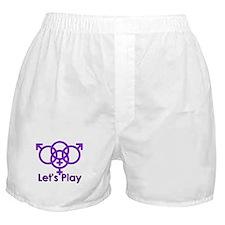 "Swinger Symbol ""Let's Play"" Boxer Shorts"