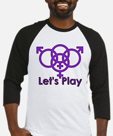 "Swinger Symbol ""Let's Play"" Baseball Jersey"