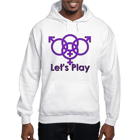 """Swinger Symbol """"Let's Play"""" Hooded Sweatshirt"""