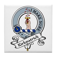 Kirkpatrick Clan Badge Tile Coaster