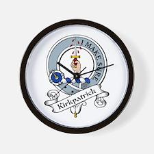 Kirkpatrick Clan Badge Wall Clock