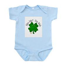 4 Leaf- Kiss me!! I'm Irish Infant Creeper