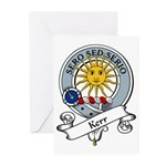 Kerr Clan Badge Greeting Cards (Pk of 10)