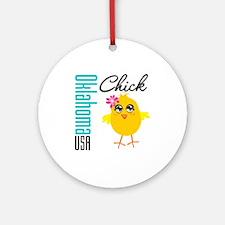 Oklahoma Chick Ornament (Round)