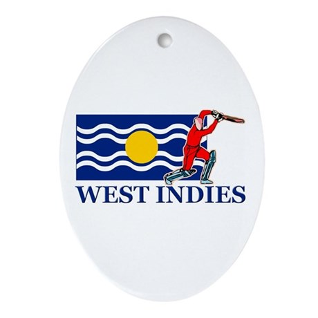 West Indies Cricket Player Ornament (Oval)