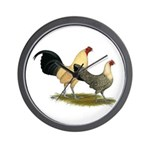 OE Bantams Cream Buttercup Wall Clock
