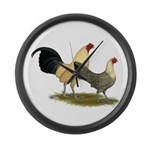 OE Bantams Cream Buttercup Large Wall Clock