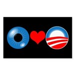 Black Eye Heart Obama Bumper Sticker