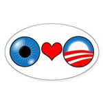 Eye Heart Barack Obama Oval Sticker
