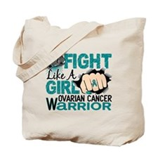 Licensed Fight Like A Girl 20.2 Ovarian C Tote Bag