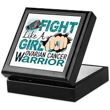 Licensed Fight Like A Girl 20.2 Ovari Keepsake Box