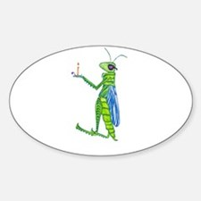 Grasshopper Sticker (Oval)