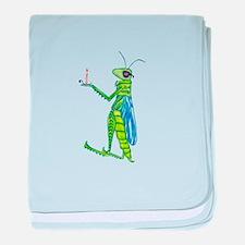 Grasshopper baby blanket