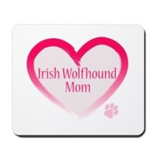 Wolfhound Pink Heart Mousepad