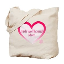 Wolfhound Pink Heart Tote Bag