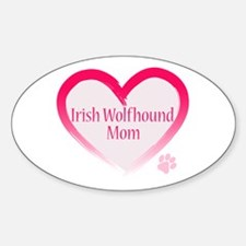 Wolfhound Pink Heart Decal