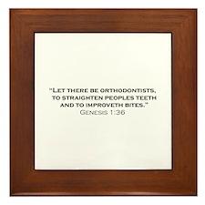 Orthodontist / Genesis Framed Tile
