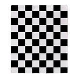 Black and white checkered Fleece Blankets