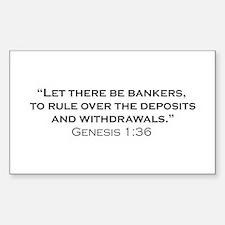 Banker / Genesis Sticker (Rectangle)