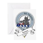 Innes Clan Badge Greeting Cards (Pk of 10)