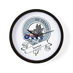 Innes Clan Badge Wall Clock