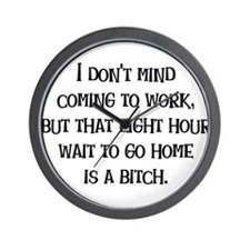 Wait to Go Home Wall Clock