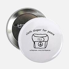 Cloth Diaper for Peace Button