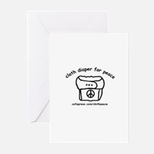 Cloth Diaper for Peace Greeting Cards (Package of