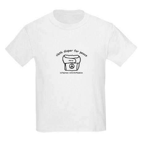 Cloth Diaper for Peace Kids T-Shirt
