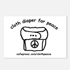 Cloth Diaper for Peace Postcards (Package of 8)