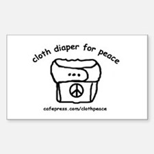 Cloth Diaper for Peace Rectangle Decal