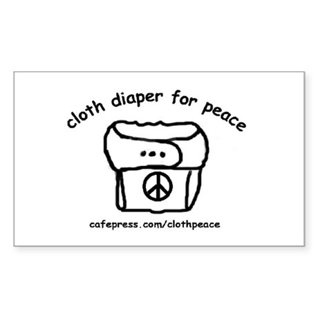 Cloth Diaper for Peace Rectangle Sticker