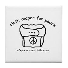 Cloth Diaper for Peace Tile Coaster